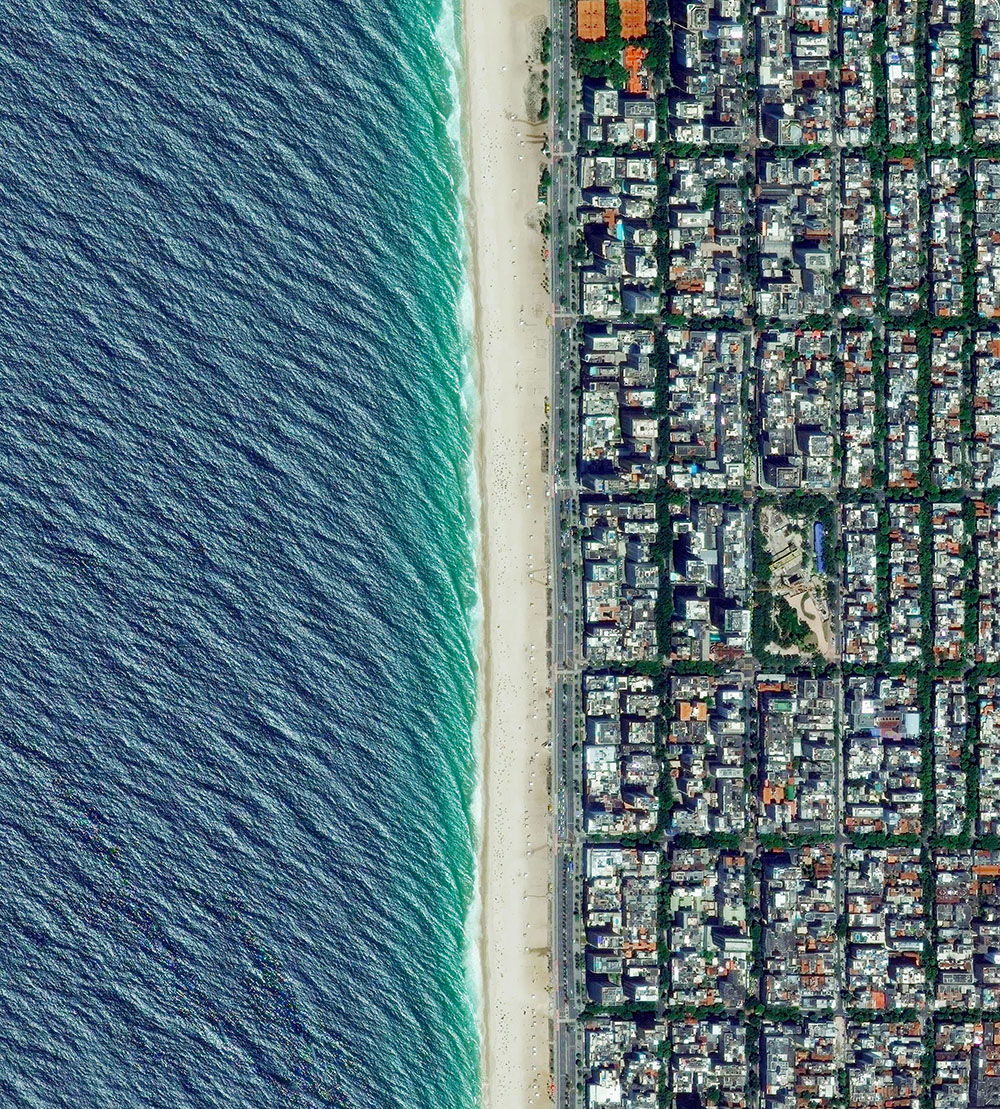 Ipanema Beach is located in the South Zone of Rio de Janeiro, Brazil.